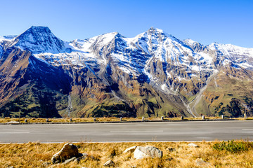 Wall Mural - road at the grossglockner mountain