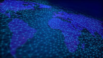 Vernetzte Welt - Blau