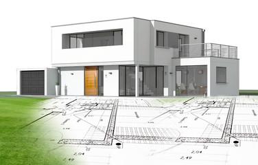 Plan et maison d'architecte
