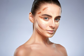 Girl with face contouring