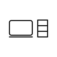Modern computer line icon.
