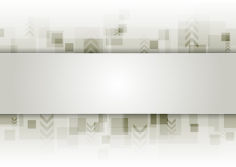 Abstract grey tech vector background