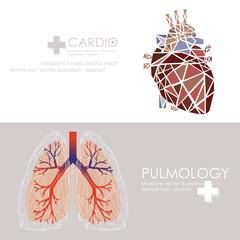 Human heart icon. Vector illustration.