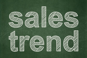 Marketing concept: Sales Trend on chalkboard background