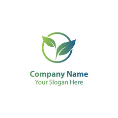 nature leaf logo design