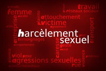 Nuage de Mots Harcèlement Sexuel v2