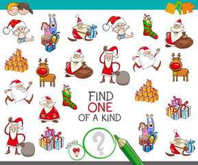 Christmas one of a kind cartoon game