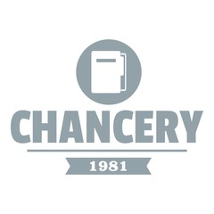 Chancery logo, simple gray style