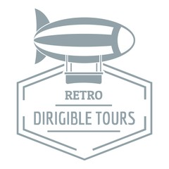 Dirigible logo, simple gray style