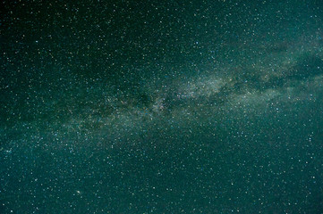 the milky way in the starry sky