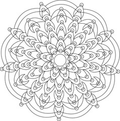 Mandala vector for coloring book