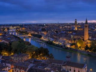 Wall Murals Kiev View of Verona by night, Italy