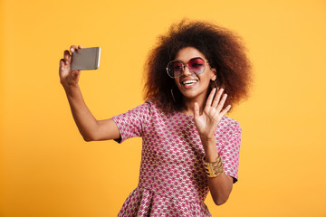 Portrait of a happy afro american woman
