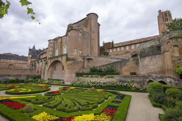 The Palais de la Berbie and its gardens, now the Toulouse-Lautrec Museum. A World Heritage Site as part of the Episcopal City of Albi, France