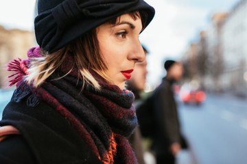 Woman walking on Berlin Streets