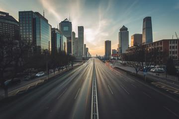 Beijing CBD at sunset