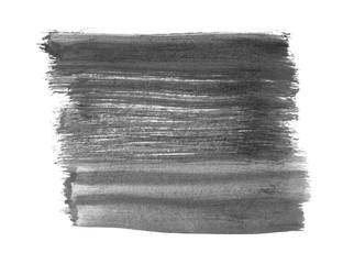 Unordentliche Pinselstriche mit schwarz grauer Farbe