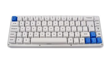 Keyboard stock images. White keyboard on white background. Computer keyboard
