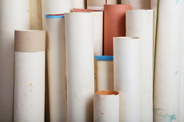 rolls of old paper background