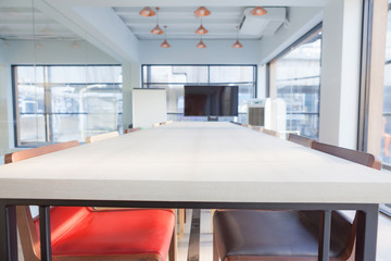 Interior of meeting room in modern office