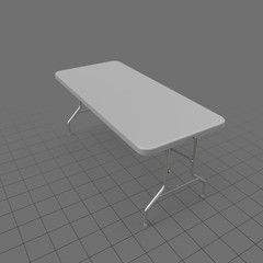 Folding table with metal legs