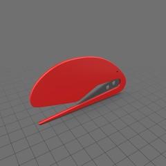Red plastic letter opener