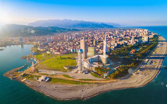 Aerial view of Batumi - capital of Adjara, Georgia