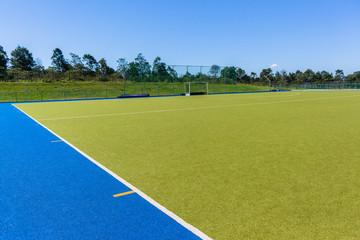 Hockey Goals Field Astro Turf Blue Sky