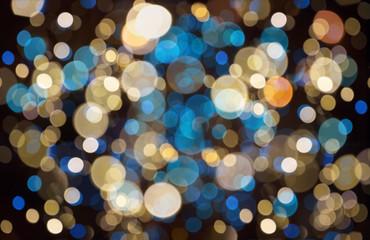 Fotobehang - christmas background with bokeh lights