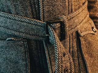 Men's woolen coat detail