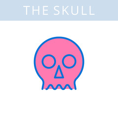 The internals outline icon. Skull and cranium symbols. Viscera and inside organs vector linear pictograms. Thin line medical and anatomy infographic elements for web, presentation, networks.