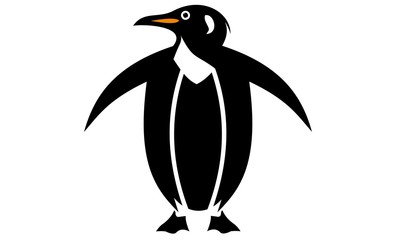 silhouette image of penguins