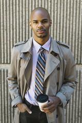 Black businessman portrait outdoors