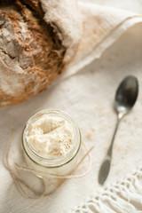 sourdough in a glass jar