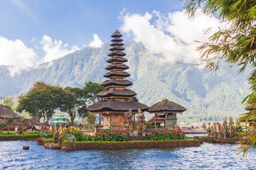 Pura Ulun Danu Bratan. Temple on lake. Bali, Indonesia.