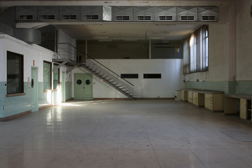 Interior of an old empty factory