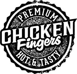 Premium Chicken Fingers Menu Stamp