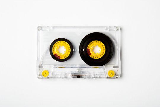 Cassette tape on white
