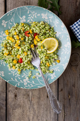Food: green couscous