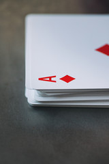 Cards: Stack Of Cards With Ace On Top