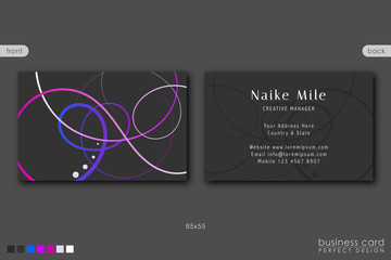 Business Card Template Creative Design