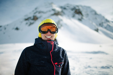 Portrait of a young skier