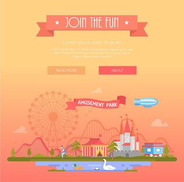 Join the fun - modern vector illustration