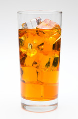 Orange Soda in a Glass of Ice