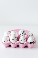 Egg Heads in the Carton
