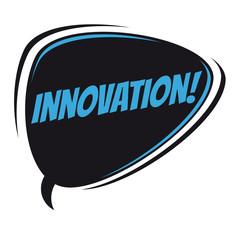 innovation retro speech bubble