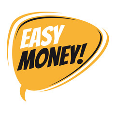 easy money retro speech bubble