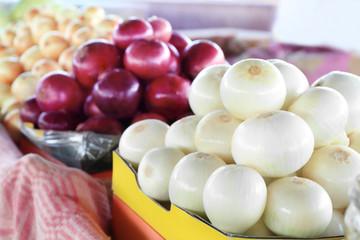 Fresh onion at market