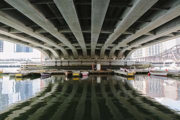 View Under Bridge Boston, Massachusetts