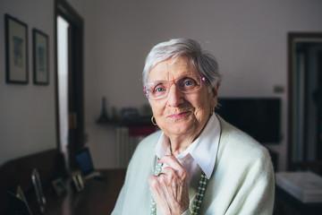 Portrait of a beautiful elderly lady